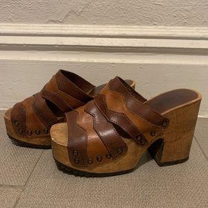 VINTAGE 90's MIA Leather Platform Sandals